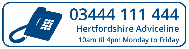 Hertfordshire Adviceline Service - 03444 111 444
