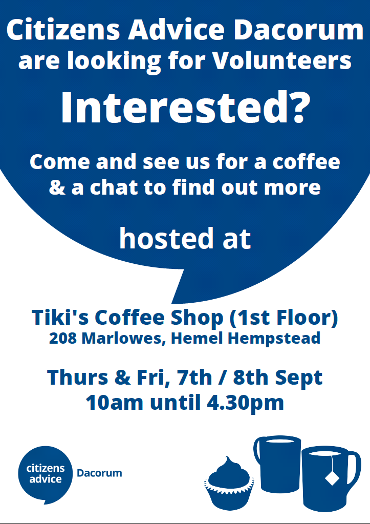 Button linking to Coffee & Chat in Tiki's