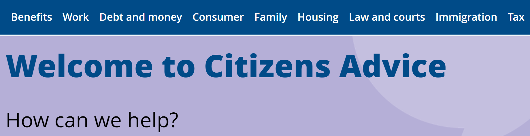 Image linking to Citizens Advice Public Site
