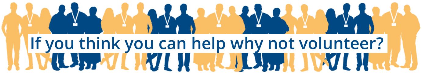 Banner stating - if you think you can help why not volunteer? Links to Citizens Advice Dacorum volunteering page